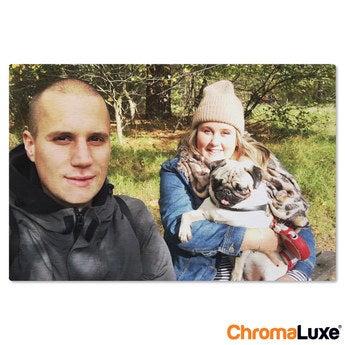 Chromaluxe Aluminium photo - Brushed - 60x40cm