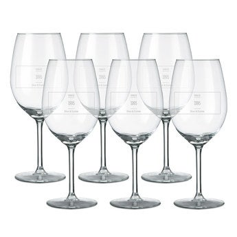 Rood wijnglas - 6 stuks