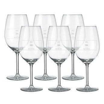 Wijnglas - Rode wijn (6 stuks)