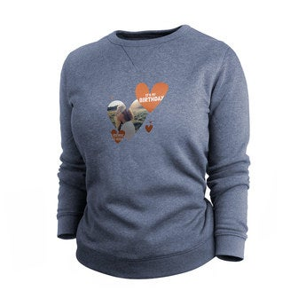 Egyéni pulóver - Nők - Indigo - M