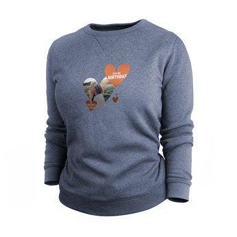 Tryckt tröja - Kvinnor - Indigo - M