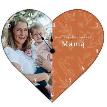 Zegar ze zdjeciem na Dzień Mamy