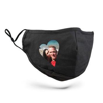 Máscara de pano personalizada - cor preta