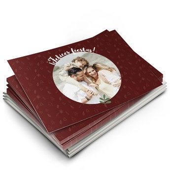 Tarjetas de Navidad con foto - Plana