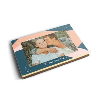 Foto tarjeta de chocolate