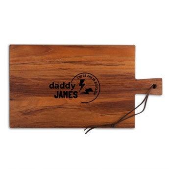 Apák napja fából készült kenyérvágódeszka