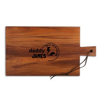 Father's Day breadboard - Teak