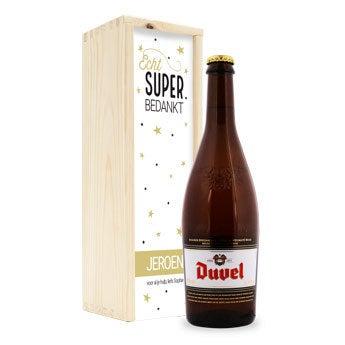 Duvel bierfles - kist bedrukt