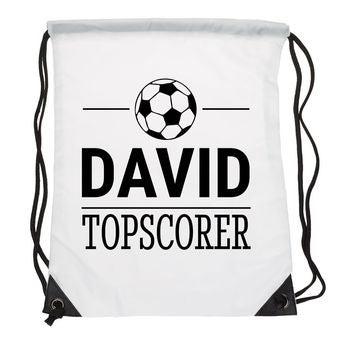 Personalised drawstring bag