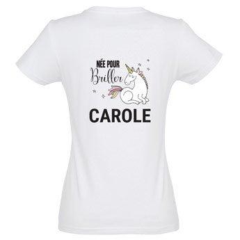 T-shirt Licorne - Femme - L
