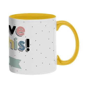 Name mug - Yellow
