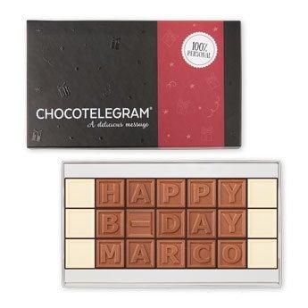Čokoládový telegram - 21 znaků