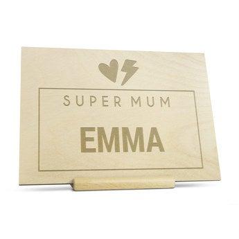 Tarjeta grabada de madera - Día de la Madre