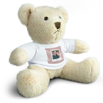 Personalised cuddly toy with photo - Billy Bear