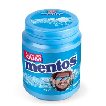 Personalised Mentos chewing gum - Mighty Mint