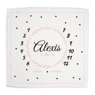 Baby blanket - My milestones