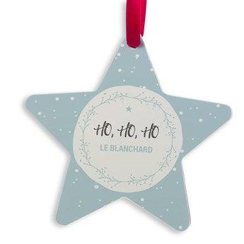 Décoration de Noël en aluminium - Étoile de Noël (jeu de 2)