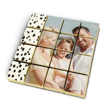 Foto en bloques de chocolate