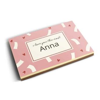 Carte photo en chocolat personnalisée