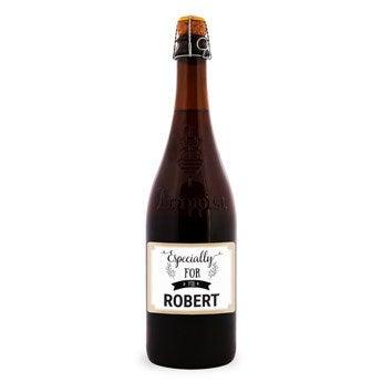 La Trappe Isid'or beer - Etiqueta personalizada