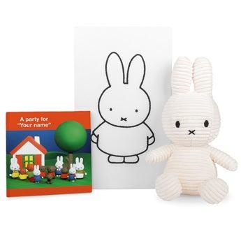 Personalised Miffy gift box - Corduroy plush & book