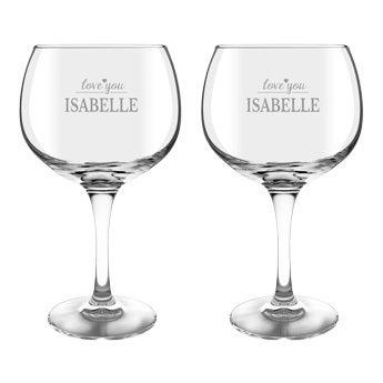 Gin og tonicglas (2 stykker)