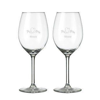 Glas - Vitvin - 2 stycken