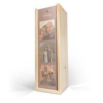 Caixa de madeira - Impressão em madeira - Solteiro