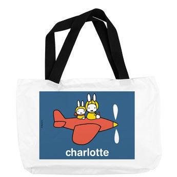 Miffy nyuszi - bevásárló táska - fehér