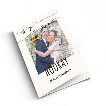 Carte félicitation mariage - XL - Portrait