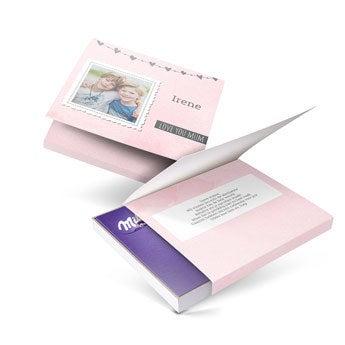 Milka giftbox - Moederdag - 110gr (Hart)