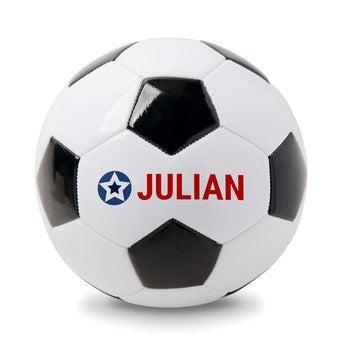 Pelota de fútbol con nombre