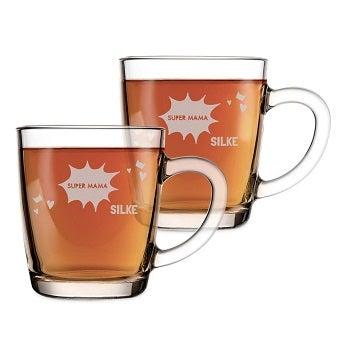 Teeglas mit Gravur - Muttertag (2 Stück)