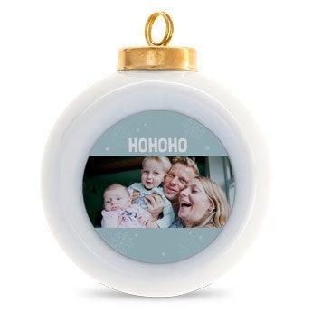 Keraaminen joulupallo (4 kpl)