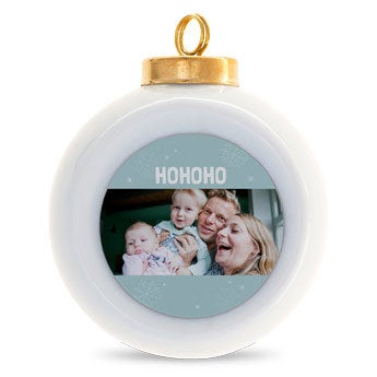 Keramieken kerstbal (4 stuks)