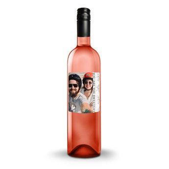 Różowe Wino - Belvy - Etykieta ze zdjęciem