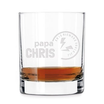 Vaderdag whiskey glas