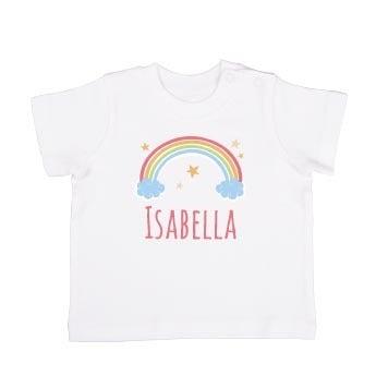Personalised baby T-shirt - Short sleeve - White - 74/80