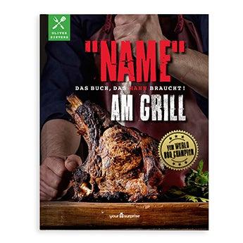Grillbuch mit Namen - Männer am Grill
