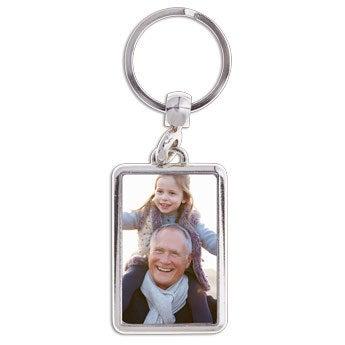 Nyckelring med foto - Farfar/Morfar