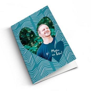 Pohľadnica s fotkou - Myslím na teba!