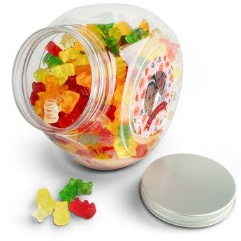 Sklenice se sladkostí - želé