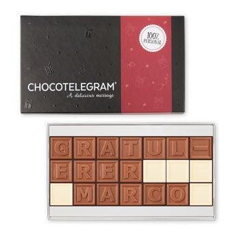 Sjokolade telegram - 21 tegn