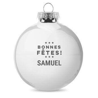 Boule de Noël en verre - Argent  (2 pièces)