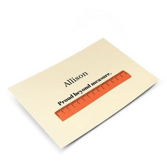 Postkarte mit Foto - Prüfung bestanden