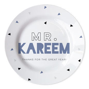 Personal Plate for Teachers