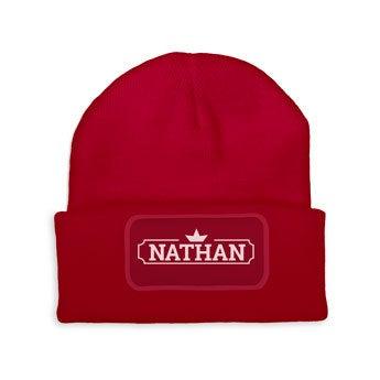 Custom czapka - Czerwony