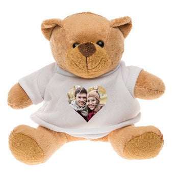 Personalised cuddly toy with photo - Bertie Bear