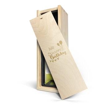 Maison de la Surprise Sauvignon Blanc - Weinkiste mit Gravur