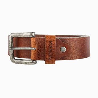 Personalised leather belt - Brown (95)